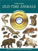Full-Color Old-Time Animals CD-ROM and Book